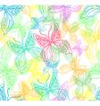 seamless butterflies vector image