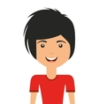 woman avatar isolated icon design vector image