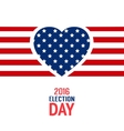 Election day sign vector image vector image