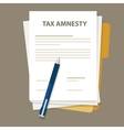 Tax amnesty  government forgive vector image