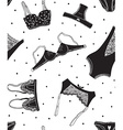Seamless pattern of black icons of womens vector image