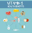 health benefits of vitamin b vector image vector image