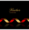 background with red gold ribbon vector image vector image