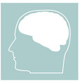 head with brain the white color icon vector image