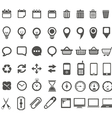 Web icons collection isolated on white vector image