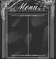 Vintage Blackboard for Restaurant Menu vector image
