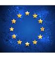 Grunge European Union Symbol vector image vector image