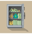 opened safe front view vector image