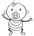 a baby sketch vector image