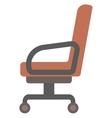 Brown office chair vector image