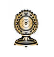 Classic Round Golden clock vector image