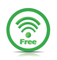 Free wifi vector image