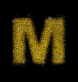 gold dust font type letter m vector image