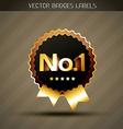 golden winner label vector image