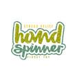 handwritten emblem of hand spinner vector image