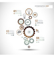 Infographics and High Tech background for business vector image
