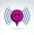 Peace propaganda icon with speech bubble vector image