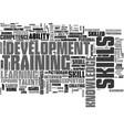 skills word cloud concept vector image