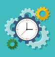 Time management concept Flat design stylish vector image
