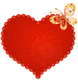 romantic vintage heart vector image vector image