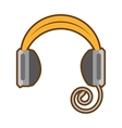 cartoon headphones music listing audio vector image