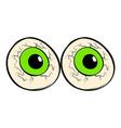 eyeballs icon cartoon vector image