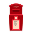 wall mounted metal mailbox isolated flat vector image