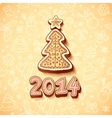 gingerbread Christmas tree with sign vector image