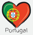 love Portugal flag vector image vector image