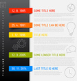 Infographic timeline report template with icons vector image vector image