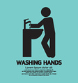 Washing Hands Black Graphic Symbol vector image