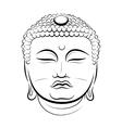 Drawing Buddha Head vector image vector image