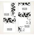 Abstract black and white brush texture on banner vector image vector image