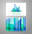 eco city logo vector image