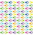 Fish pattern vector image vector image