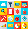 big data analytics colorful icons vector image