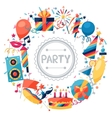 Celebration background with party icons and vector image
