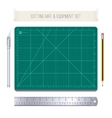 Cutting Mat and Equipment Set vector image