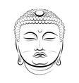 Drawing Buddha Head vector image