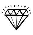Isolated diamond draw design vector image