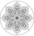 mandala line art vector image