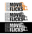movie flicks vector image