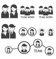 People Symbol Business Team Concept vector image