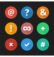 Simple web icons set 001 vector image