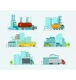 Transportation set Trucks end bus passenger cars vector image