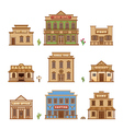 Wild West buildings vector image