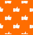 thumb up gesture pattern seamless vector image