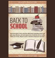 vintage colored back to school poster vector image vector image