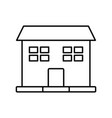 outline house windows door residence exterior vector image vector image