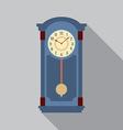 Grandfather Pendulum Clock vector image vector image